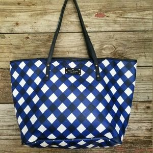 Kate Spade Blue White tote bag